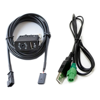 Biurlink Car Screen Navigation 16:9 AUX-In USB Switch Audio Cable 3Pin Audio Rear Port for BMW E38 E39 E46 E53 X5 image