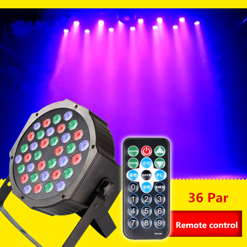Remote control 36 led par light dyed lights sound control background cast light KTV bar stage laser light wedding mdx 512