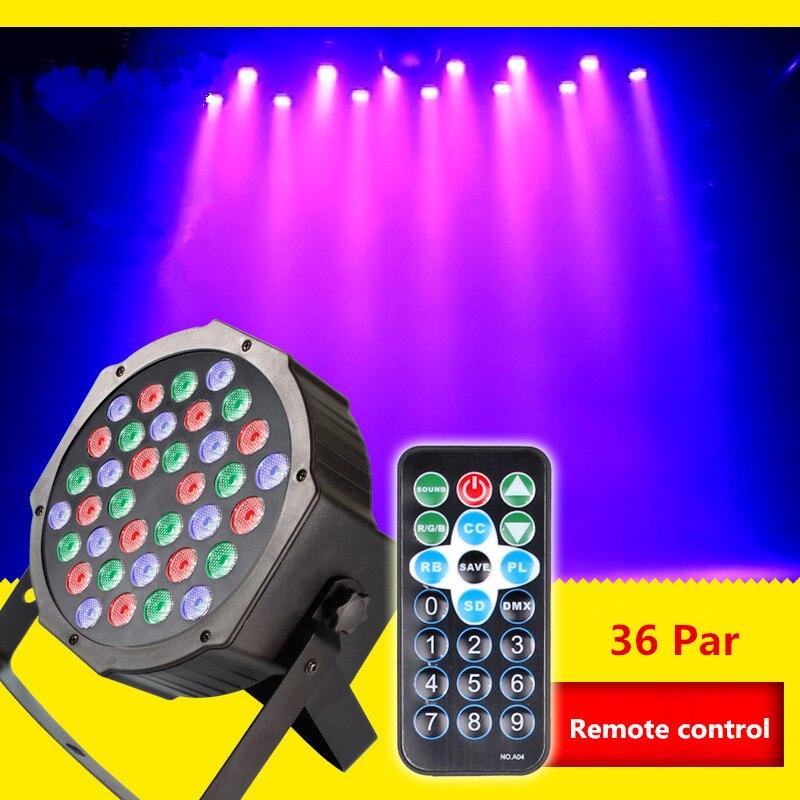 Remote control 36 led par light dyed lights sound control background cast light KTV bar stage laser light wedding mdx 512 цена 2017
