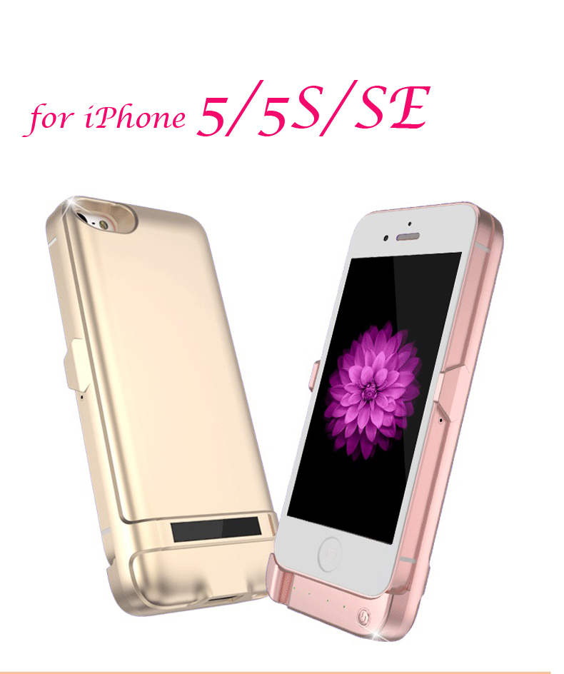 Neue Batterie Fall für iPhone5 5 s se 6800 mAh Backup-Batterie Drahtlose Ladeleistung Bank Tragbare externe Lade Telefon fall