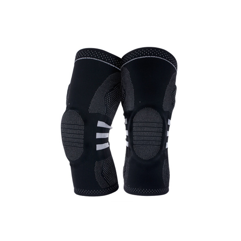 1PCS Basketball Knee Pads For Sports Kneepad Support Running Fitness Elastic Nylon Silicon Padded Compression Knee Brace
