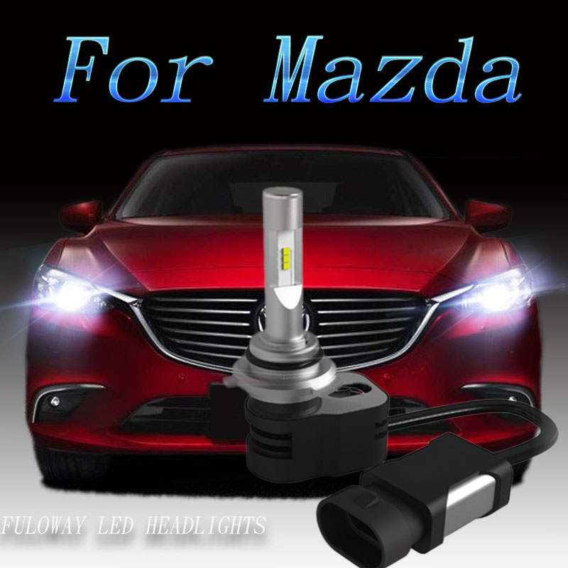 2pcs Car Headlight H7 H4 LED H8/H11 HB3/9005 HB4/9006 H1 9012 Auto Bulb Headlamp Light For or Mazda 3 6 cx-5 5 cx-7 car-styling 12v led light auto headlamp h1 h3 h7 9005 9004 9007 h4 h15 car led headlight bulb 30w high single dual beam white light