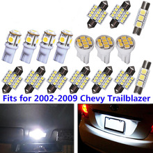 17pc Set Pure White Led Car Interior Lights Fits For 2002 2009 Chevy Trailblazer