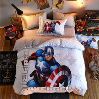 The First Avenger Bedding Set for Kids Duvet Covers Pillowcases Bedroom Decor Double Queen Pillowcases for Boys Home Decor