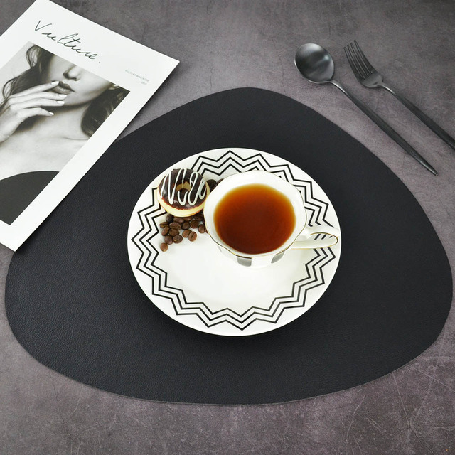 Chic Tableware Pad Placemat PU Leather Table Mat Heat 1