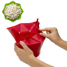 TENSKE Microwave Silicone Magic Household Popcorn Maker Container Healthy Cooking Tools*20 Drop