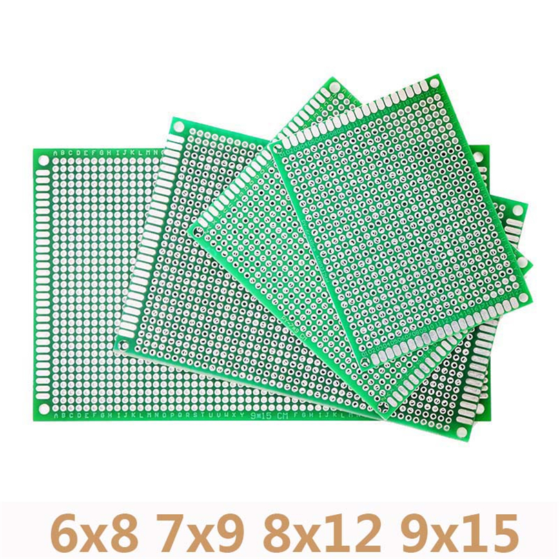 4pcs 6×8 7×9 8×12 9×15 cm double Side Copper prototype pcb Universal Board for Arduino