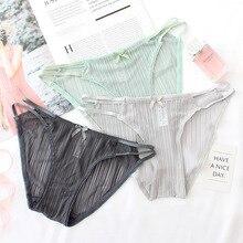 Wasteheart Women Fashion Green Gray Cotton Lace Trim Bow Low Waist Panties Underwear Lingerie Briefs 3 Piece Color One Size