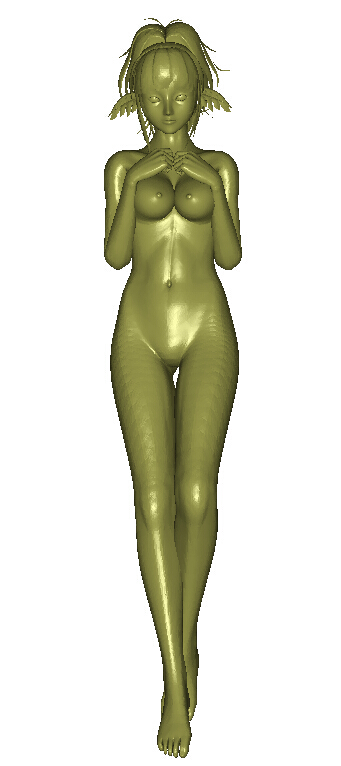 <font><b>3D</b></font> model for cnc <font><b>3D</b></font> carved <font><b>figure</b></font> sculpture machine in STL file format <font><b>sexy</b></font> girl image