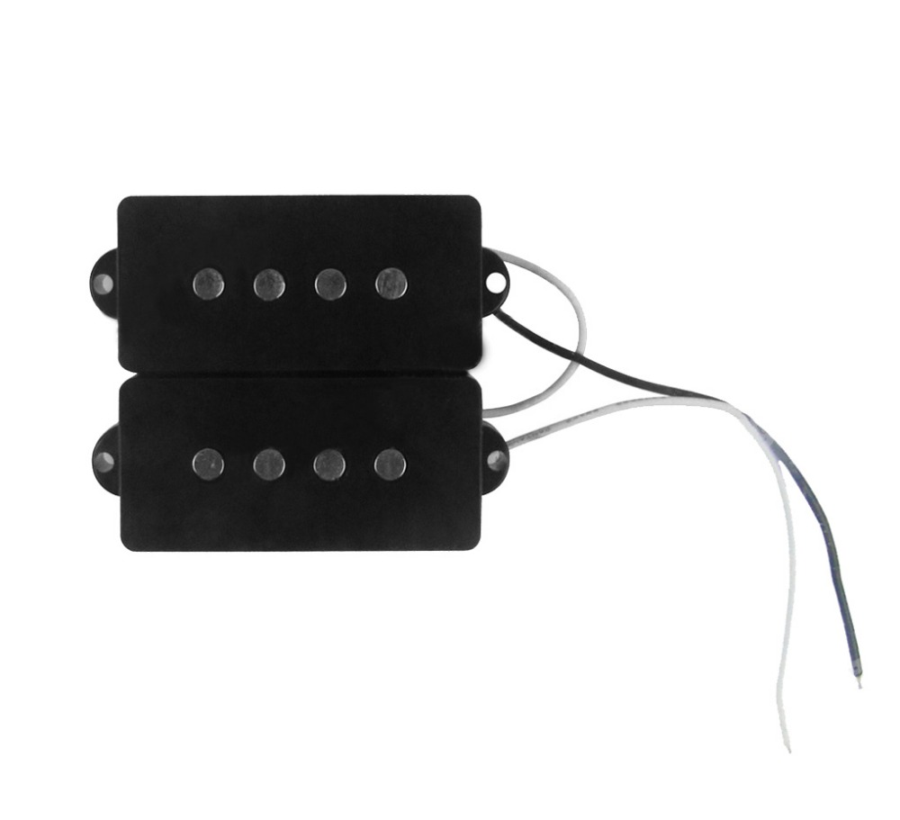 Free shipping!Bass Guitar Pickup Noiseless pickup for 4 Strings Precious Bass Set of Precious Bass PB Bass Pickup (White/Black)