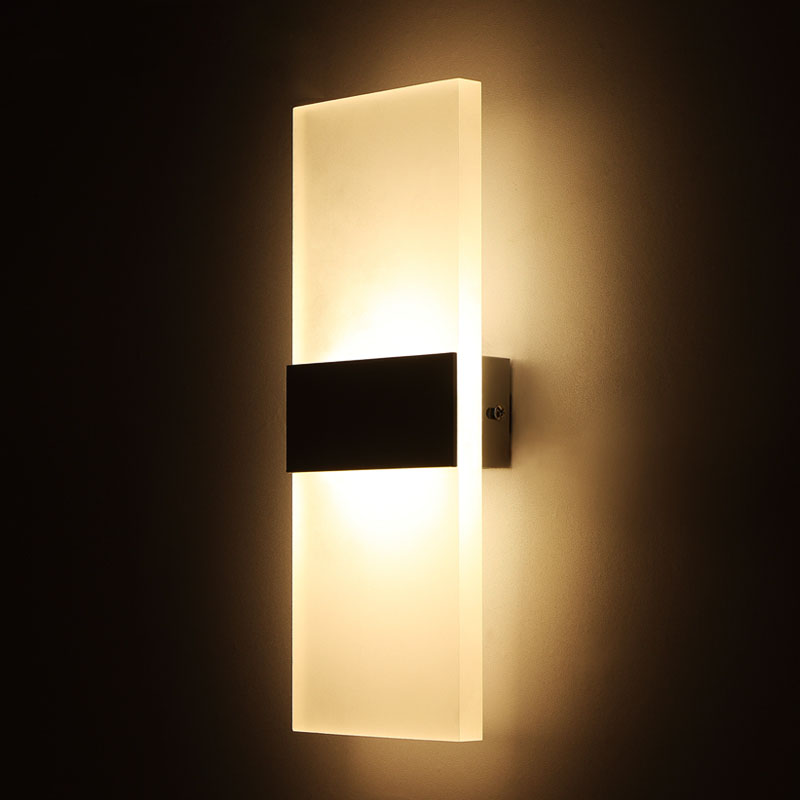 new products ffdc8 e8b20 US $176.4 30% OFF|Modern Dimmable led wall lamp 16w, 50x18cm Rectangular  Acrylic shade indoor Lamp 110v 220V Lights. options for color & power-in  LED ...