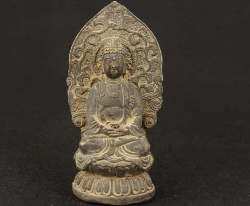 Fine Asian Tibet Old Bronze Collectable Handwork Carved Buddha Ornament Statue