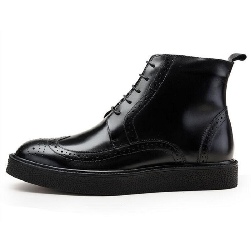 Inverno Grife Alta Luxo Preto marrom Homens Botas Qualidade Outono Sapatos Artesanal De Vaca Adulto Tornozelo Calçados Northmarch Couro PHx0qAwzz