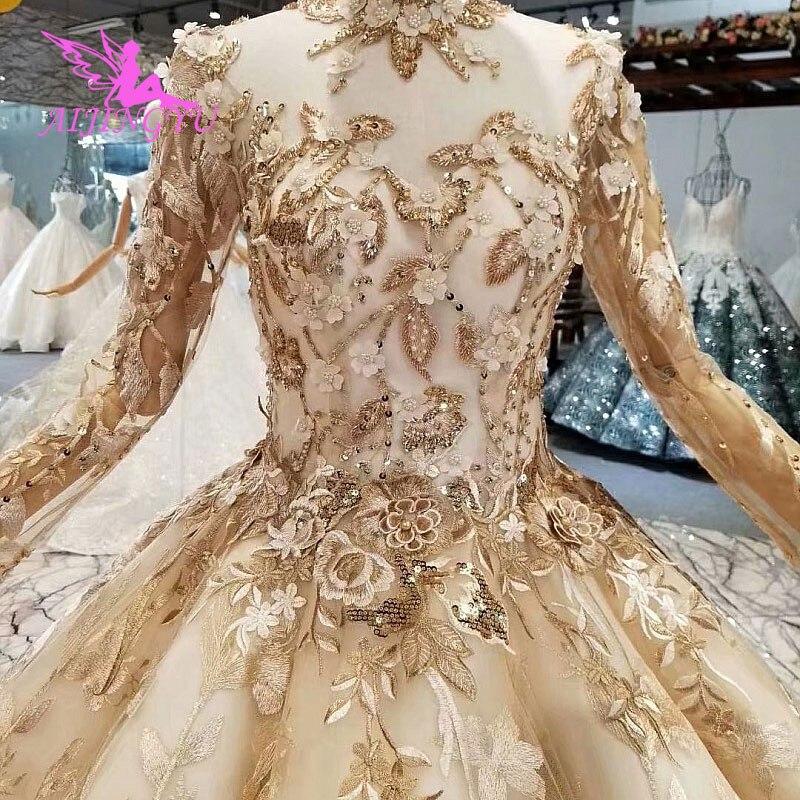 f5de8aaf56 AIJINGYU Quality Wedding Dress Guangzhou Gown 2018 Princess Pearl Beads  Chile Suzhou Love Season Gown Plus
