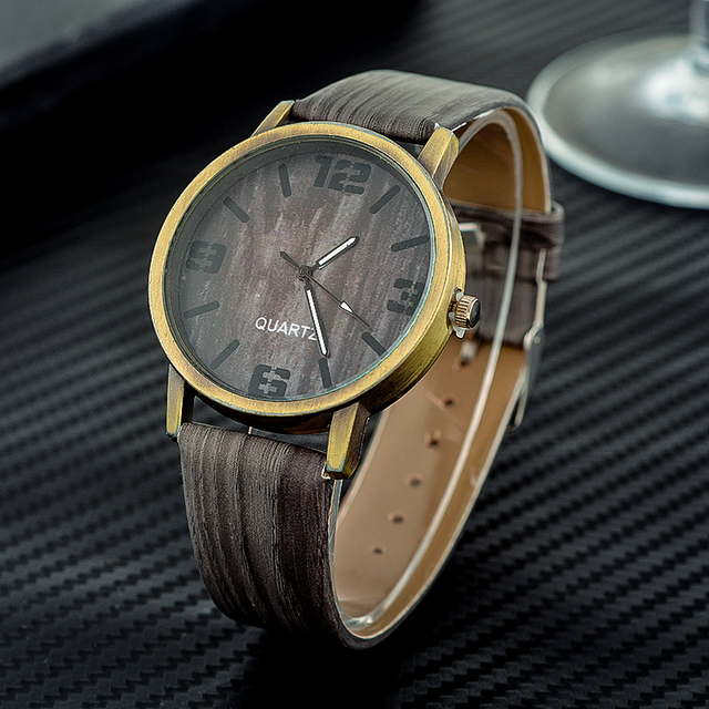 Wood Stripe Pattern Wrist Watch 1