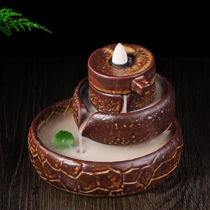 Creativo posteriore cade incenso legno di sandalo incenso disco di pietra Ogni cane ha il suo giorno utensili per il tè.