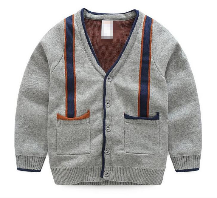 Buy Cheap Ygbdch2123431 New Autunm Baby Sweater Boy Cardigands V-collar Boy Sweater Gentiana Boy Fashion Kids Sweater Baby Clothing