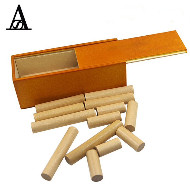 1set Inspired Stick Into Box Wooden Puzzle Adult Intelligence Assembling Game Teaching Toy Gift For Kids educational wooden toy