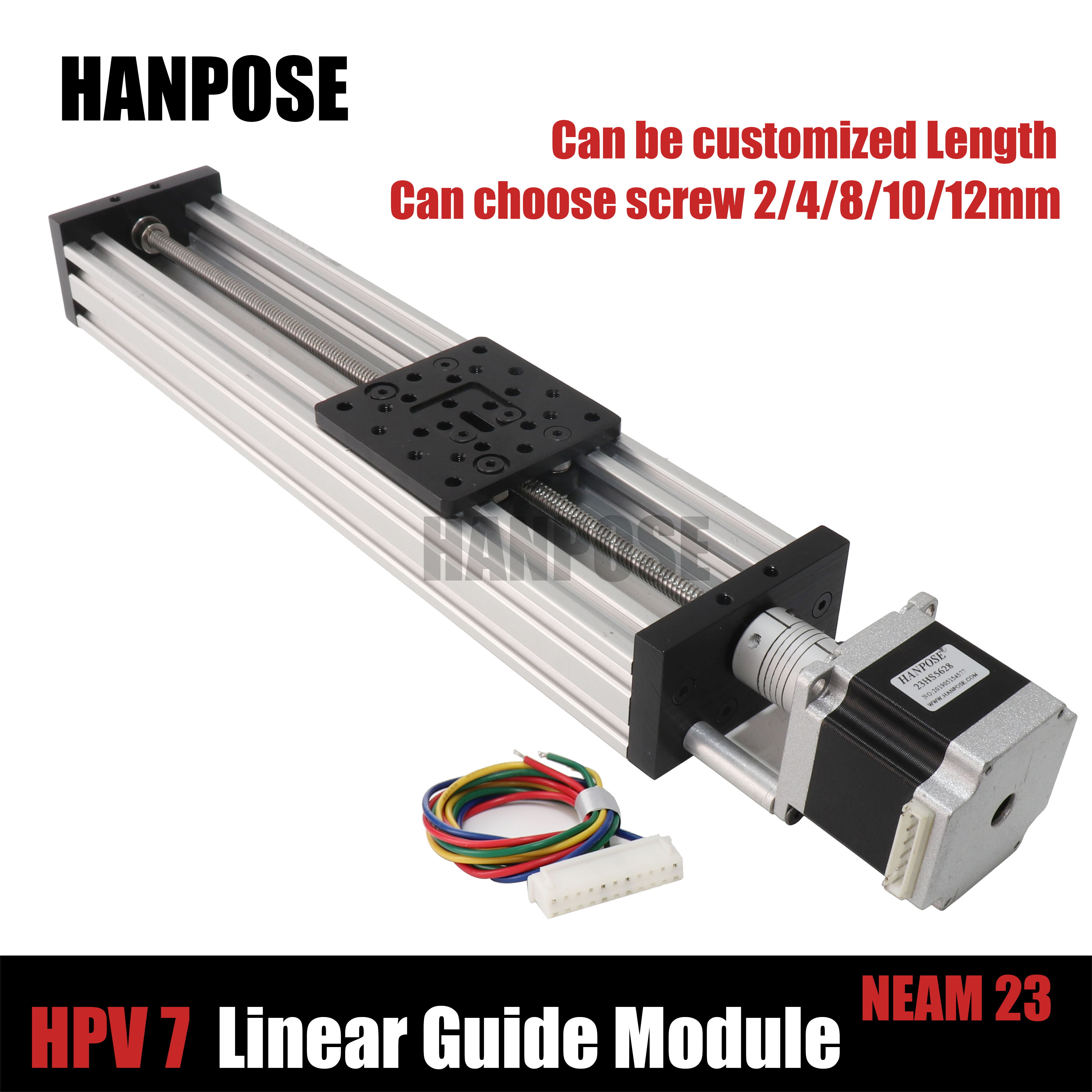 NEMA 23 2.8A Stepper Motor HPV7 Openbuilds C-Beam Linear Actuator Z Axis T8 Lead Screw Pitch 2MM Or Reprap 3D Printer