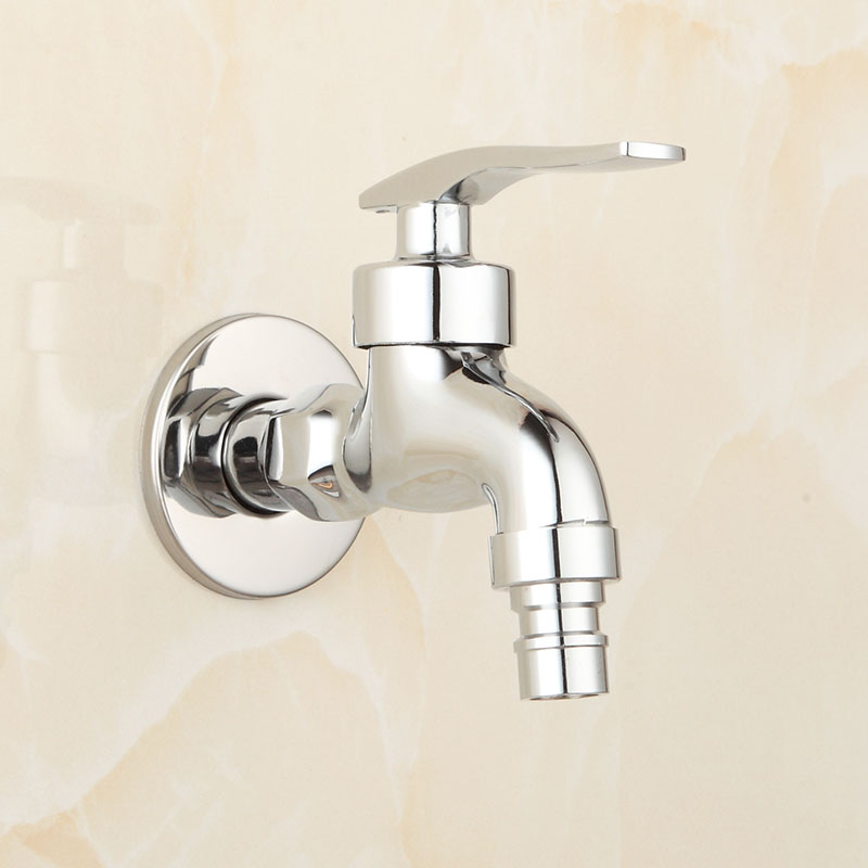 Brass Chrome Laundry Bathroom Washing Machine Faucet Wall Mount Sink - Bathroom sink spigots