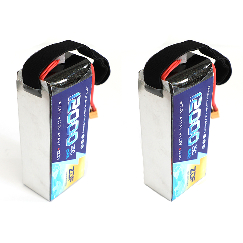 2pcs/lot ZDF 22.2V 6S 12000MAH 25C-50C RC Lipo Battery for Airplane Helicopter Drone UAV model aircraft plant protection machine 6s 25c 22 2v 4200mah airplane model battery 25c aeromodeling battery model aircraft lithium polymer battery drone battery
