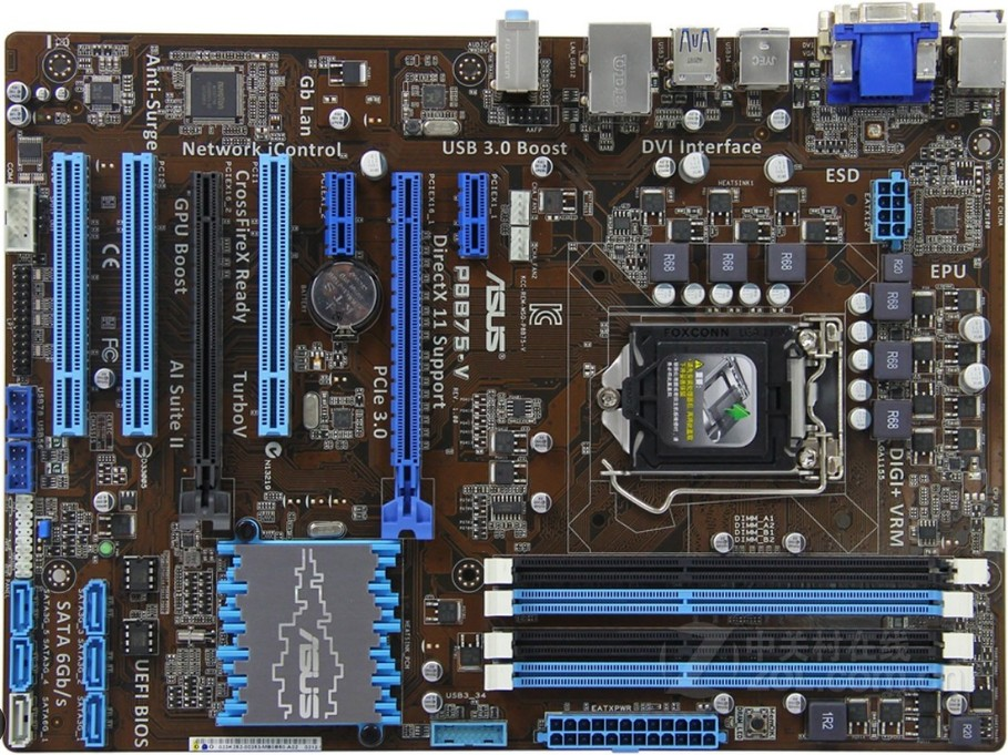 Usado, asus P8B75-V Original Usado Desktop Motherboard Intel Socket LGA 1155 i3 i5 i7 DDR3 B75 32g SATA3 USB3.0 EM, 100% testado bom