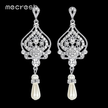 Buy chandelier pearl earrings for wedding and get free shipping on mecresh simulated pearl chandelier earrings for women mozeypictures Gallery