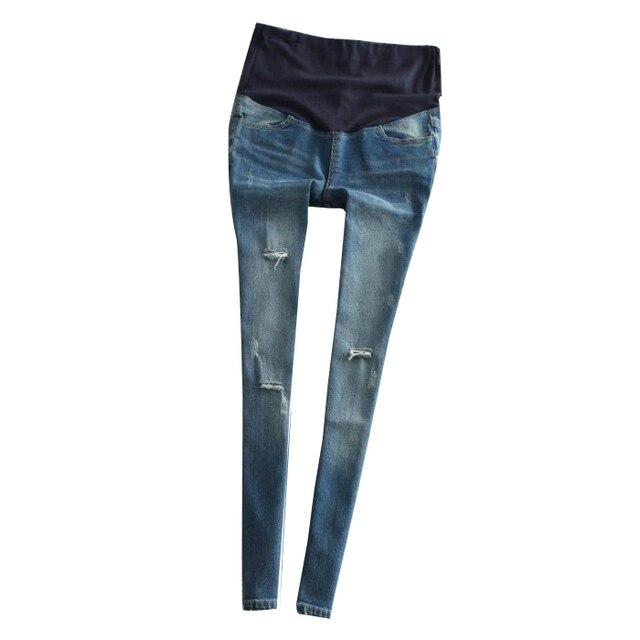 Fall Long Maternity Skinny Ripped Jeans Pregnant Women Adjustable Waist  Denim Jeans Plus Size Pregnancy Bottoms - Aliexpress.com : Buy Fall Long Maternity Skinny Ripped Jeans