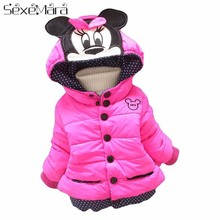 Big Size Baby Girls Jackets  Autumn Winter Jacket For Minnie Coat Kids Clothes Children Warm Outerwear Coats