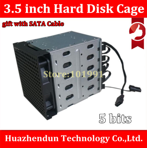 New HDD Cage 1PCS Hard Disk Cage 3.5'' Hard Disk Drive Mounting Bracket Kit Save Space Put in 5PCS hard drives with SATA Cable спортивный инвентарь veld co набор воланчиков 6 шт