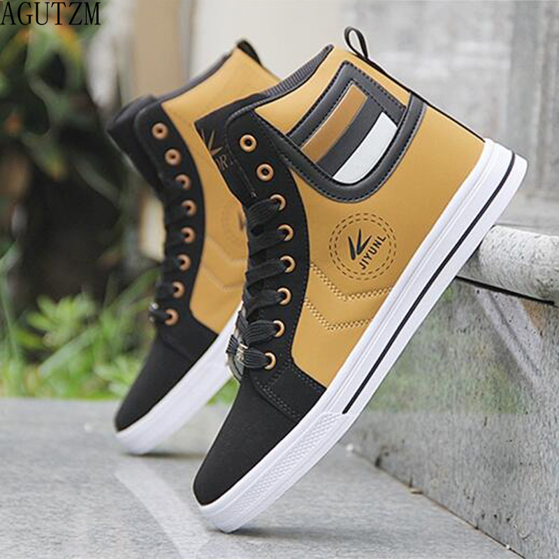 Men's Vulcanize Shoes Lace-up Men Casual Shoes