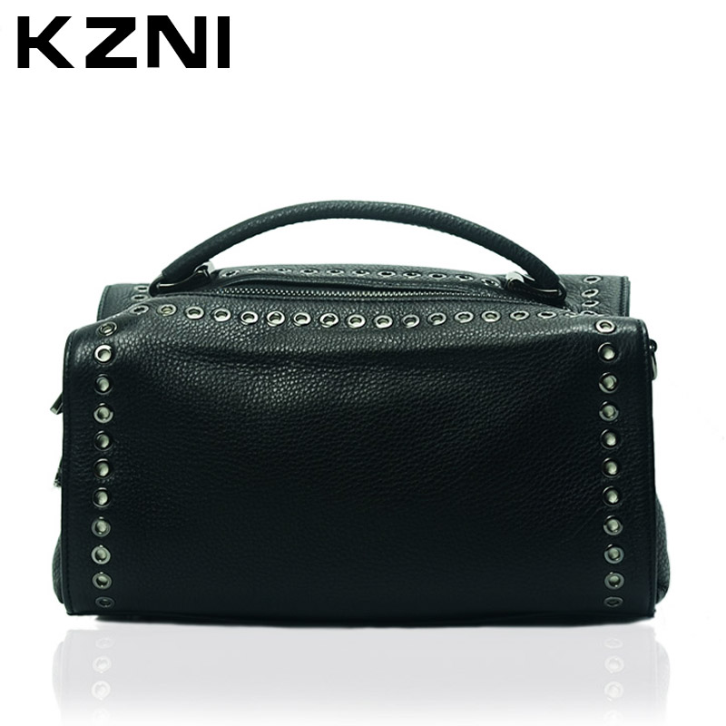KZNI Women Top-handle Bags Female Genuine Leather Crossbody Shoulder Clutch Bags for Girls Tote Bolsos De Mujer 1392 kzni women genuine leather messenger crossbody shoulder clutch bags female purses and handbags bolsos mujer 1396
