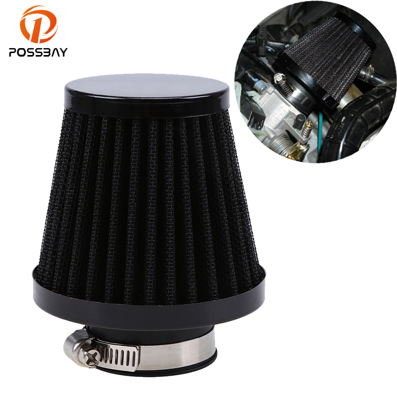 POSSBAY 35mm/39/mm/48mm/54mm/60mm Universal Motorcycle Air Filter Cleaner Motor Air Pods ATV Quad Dirt Pit Bike for Honda Suzuki