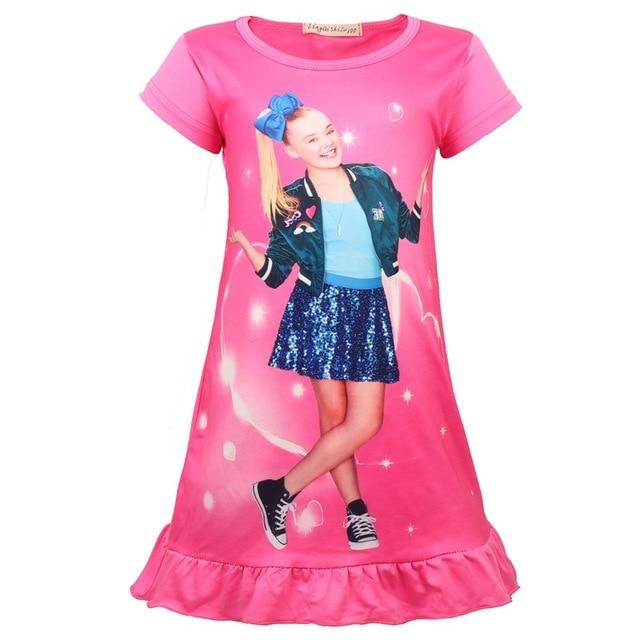 a6bf2e733e4f9 US $5.2 20% OFF|Girls nightdress New 2018 Summer Fashion Princess cartoon  Dresses kids siwa sleep Dress children nightgown lovely girl gift-in  Dresses ...