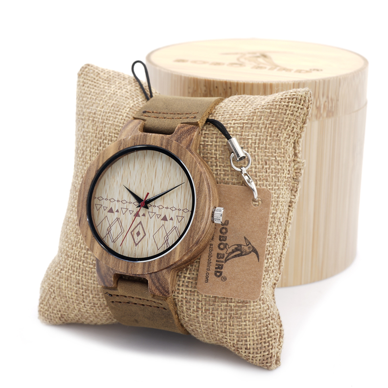 BOBO BIRD Men's Design Brand Luxury Wooden Bamboo Watches With Real Leather Quartz Watch for Men In Gift Box bobo bird e21 new arrival bamboo wood men watches with mental quartz watches real leather band janpanese movement in gift box