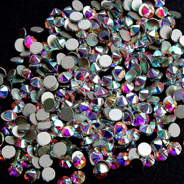 1440PCS SS3 AB Rhinestones for Nails Crystal Non Hotfix Flatback Nail  Rhinestones Gems 3D Nail Art Decoration Manicure MJZ0023 3f822274ab3c