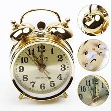 New Arrival 7cm Horseshoe Mechanical Gold Alarm Clock Manual Wind Up Vintage Metal Clock Cute Alarm Clock For Home Decoration