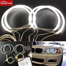 HochiTech CCFL ангельские глазки комплект Теплый Белый Halo Кольцо 131 мм* 4 для BMW E36 E38 E39 E46(с оригинальным проектором
