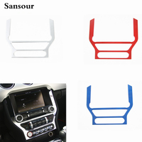 1Pc Auto Car Console DashBoard GPS Navigation Frame Panel Cover Trim Styling Fit For Ford Mustang