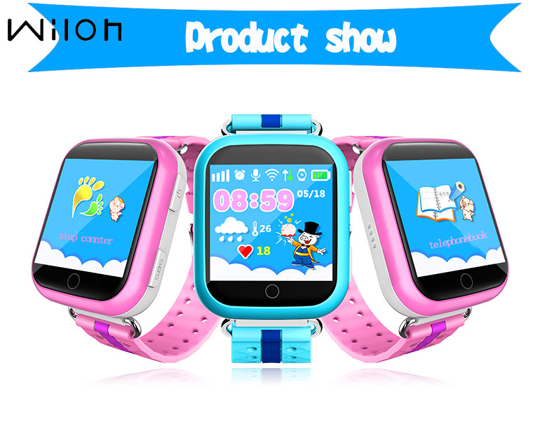 1pcs Q100 Kids Safe GPS Tracking Watches Touch Screen 1.54
