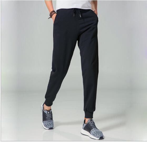 4xl 2017 Nuovo Disegno Jogging Pantaloni Della Tuta Uomini Delicatezza Allenamento Nero Pieno Lunghezza Pantaloni Casual Usura Esercizio Pantaloni Classici