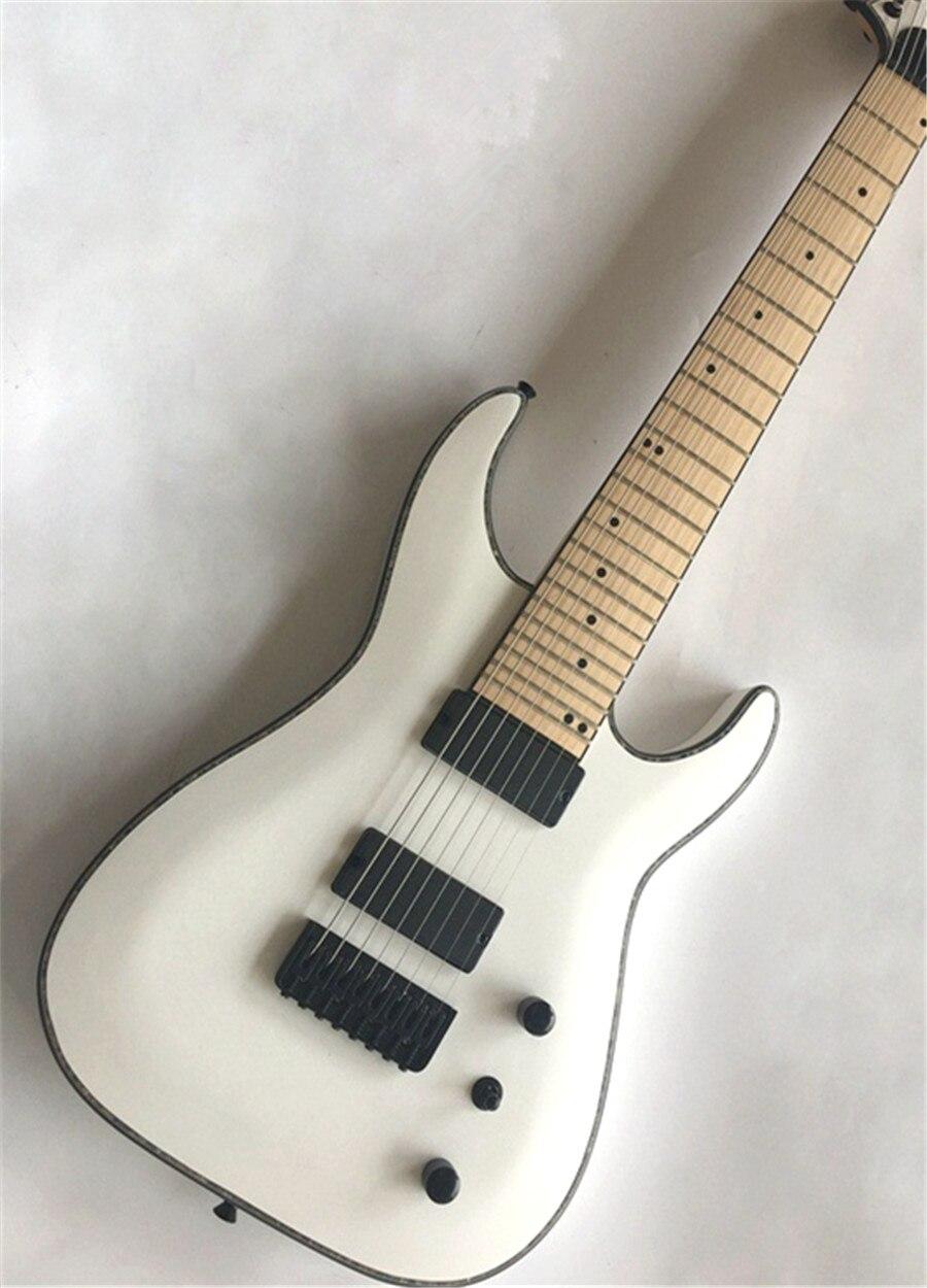 Guitare électrique sans fret, guitare à 8 cordes, accessoires noirs, touche en érable, si vous avez besoin d'autres guitares, vous pouvez envoyer une photo