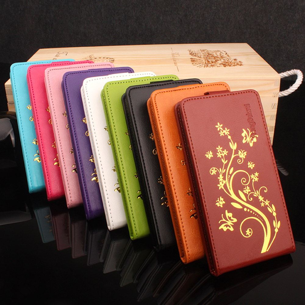 UMI Hammer S Case Luxury Hot stamping Crazy Horse Skins Leather vertical flip protective cover case for UMI Hammer S