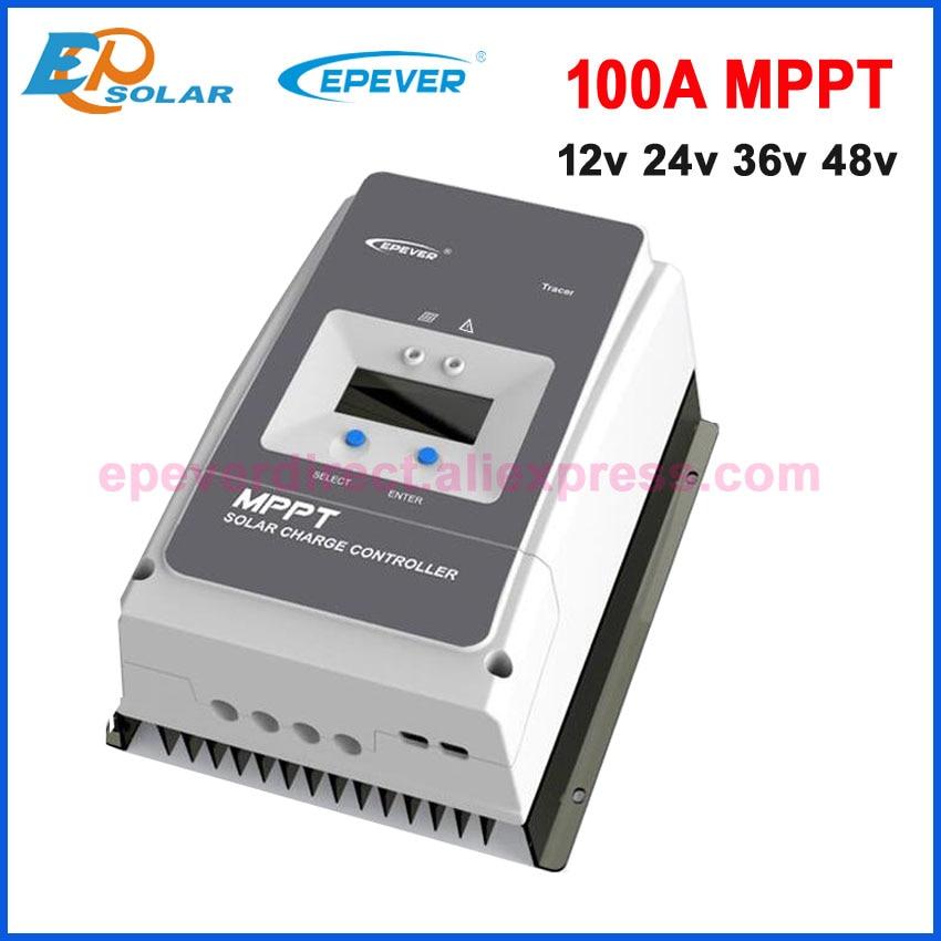 EPEVER MPPT 100A regulator ładowania słonecznego 12V24V36V48VAuto dla Max PV 150V200VDC wentylowany uszczelniony żel Nicd Li Tracer10415AN 10420AN