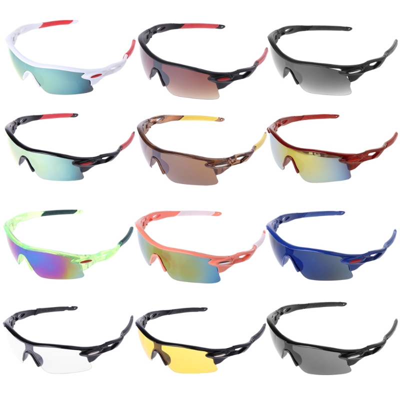 Men Women Sport Cycling Glasses Outdoor Bicycle Sunglasses Eyewear UV400 Lens + Sunglasses Bag Sunglasses box купить в Москве 2019