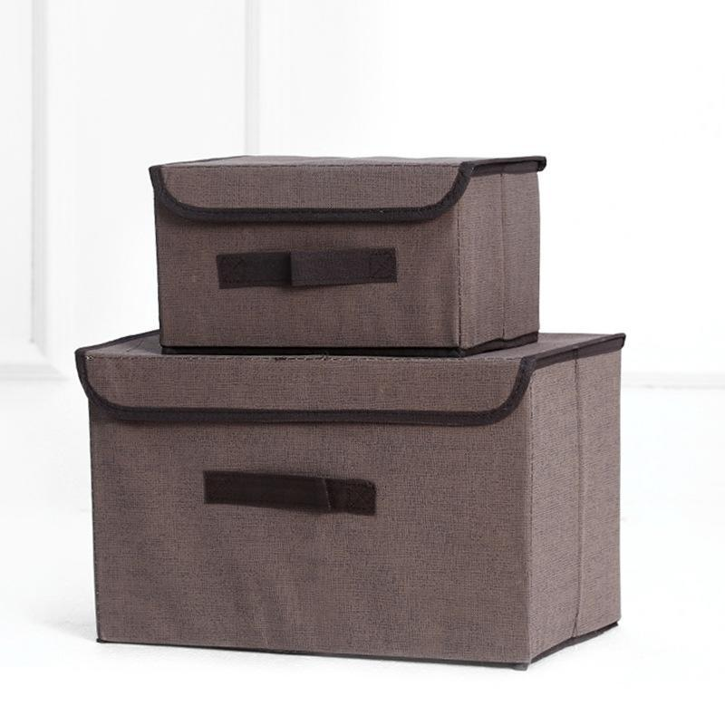 US $5.17 |Household Foldable Storage Box Organizer with Cover Wardrobe,  Table, Bedroom, Room for Clothes Books Toys-in Storage Boxes & Bins from  Home ...