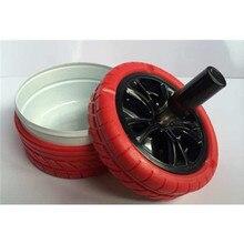 Free shipping Car tyre rotating style fashion ash tray home supplies smallsweet alloy round smokeless ashtray
