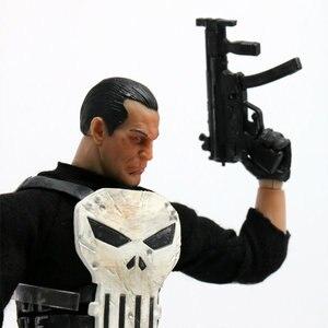 Image 4 - 15 cm Mezco Tek: 12 Punisher PVC Action Figure Heykeli Modeli Oyuncak Bebek Versiyonu