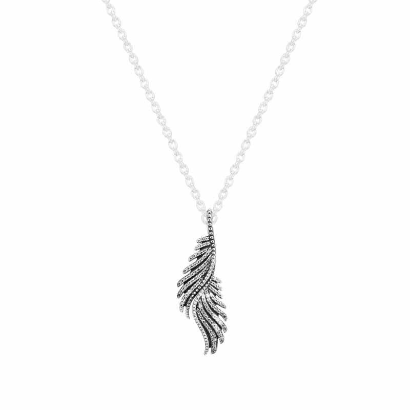 Collier et pendentif en plumes majestueuses 100% bijoux en argent Sterling pour femmes livraison gratuite