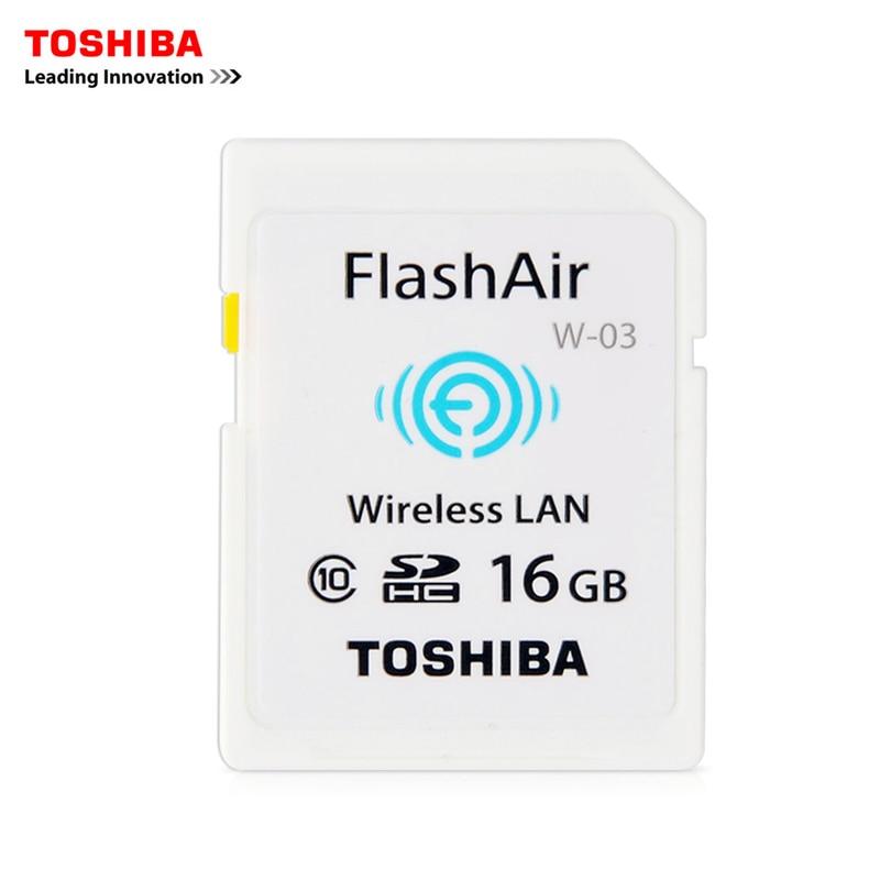 Galleria fotografica <font><b>TOSHIBA</b></font> FlashAir W-WiFi SD Card 16 GB Class10 Scheda di Memoria Flash Card Per La Macchina Fotografica Digitale, WIFI scaricare foto video al telefono ecc